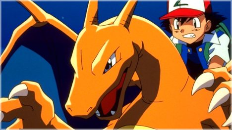 Ash e Charizard Pokemon