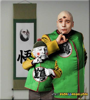 Dragon Ball Z Tenchin Han e Caos são Dr. Evil e Mini mim
