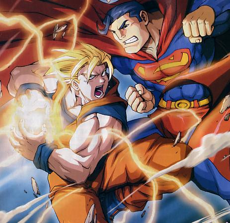 Crossover Goku de Dragonball e Superman