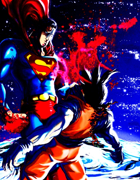Superman vs Goku Clark vence
