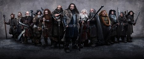 O Hobbit anões reunidos no poster