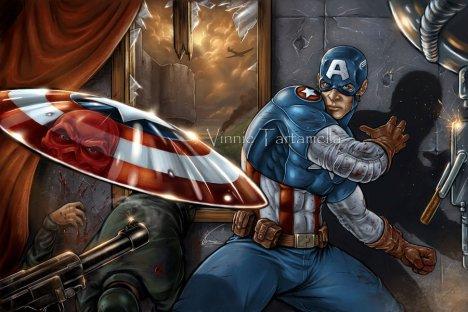 Capitão america desenho foda