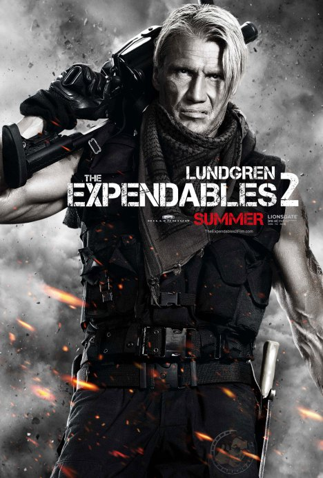 The Expendables 2 poster dolph lundgren