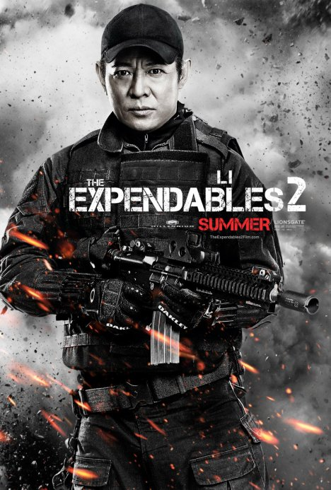 The Expendables 2 poster Jet li