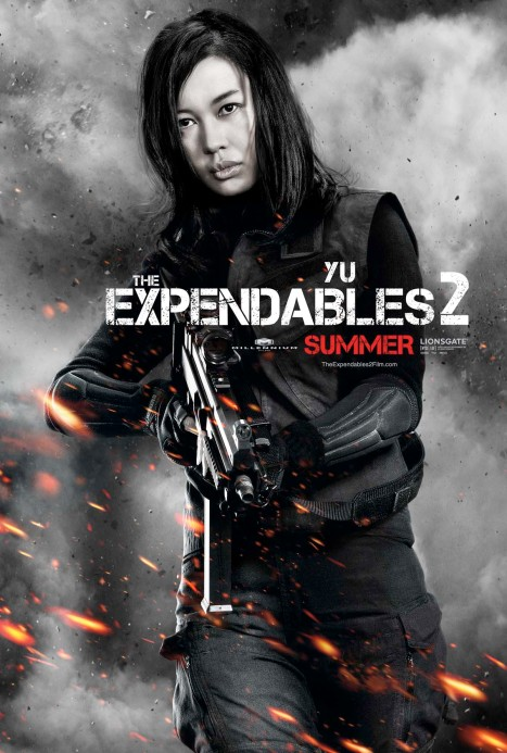 The Expendables 2 poster gata chinesa