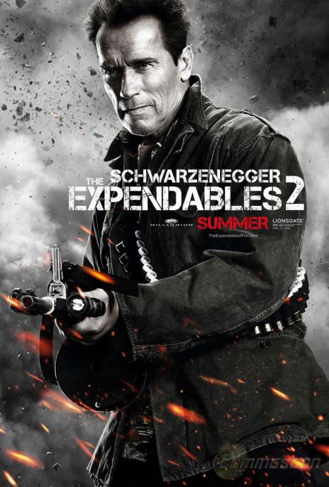 The Expendables 2 poster Arnold