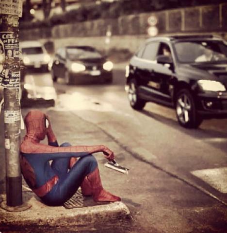 homem aranha grande depressão