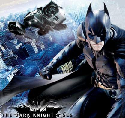 The Dark Knight poster Batman e batmovel