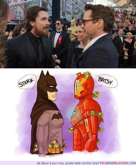 Tony Stark e Bruce wayne juntos