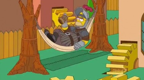 Homer simpson game of thrones