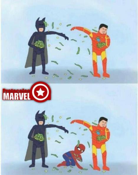 Homem de ferro, batman e homem aranha