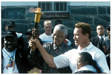Arnold Schwarzenegger e Mandela